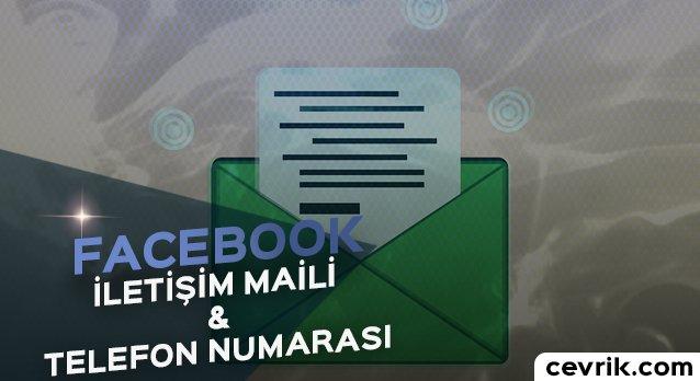 Facebook İletişim 2017