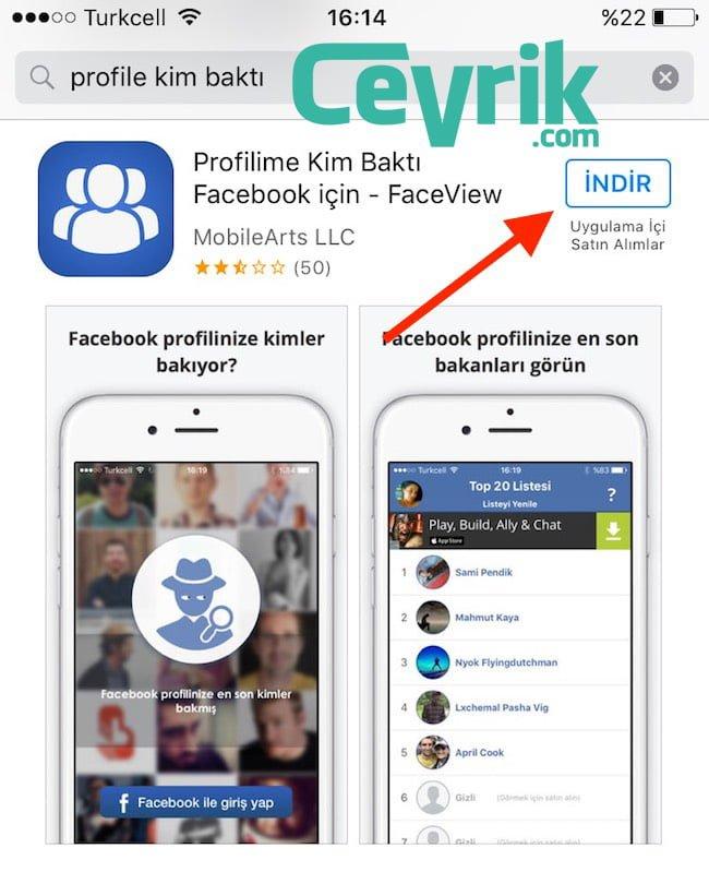 Facebook Profilime Bakanlar