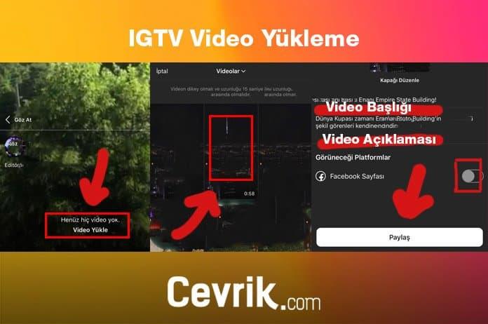 IGTV Video Paylaşma
