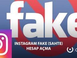 Instagram Fake Hesap Açma