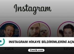 Instagram Hikaye Bildirimlerini Açma