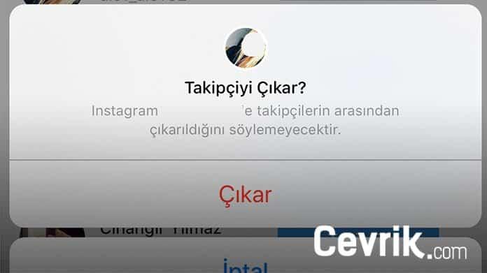Instagram Takipçi Kaldırma
