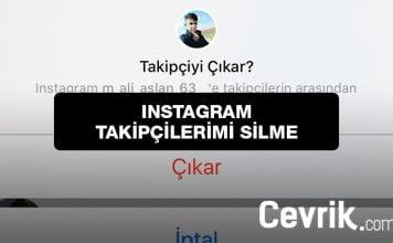 Instagram Takipçilerimi Silme