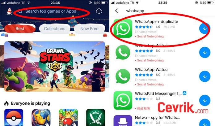 iPhone çift whatsapp kullanımı
