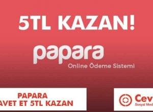 Papara Davet Et 5TL Kazan