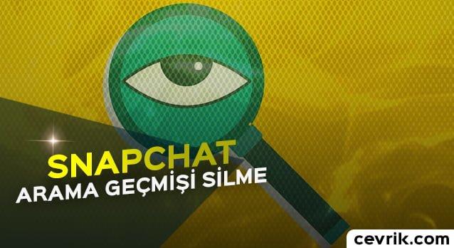 Snapchat Arama Geçmişi Silme