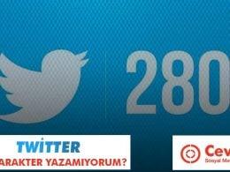 Twitter 280 Karakter Yazamıyorum