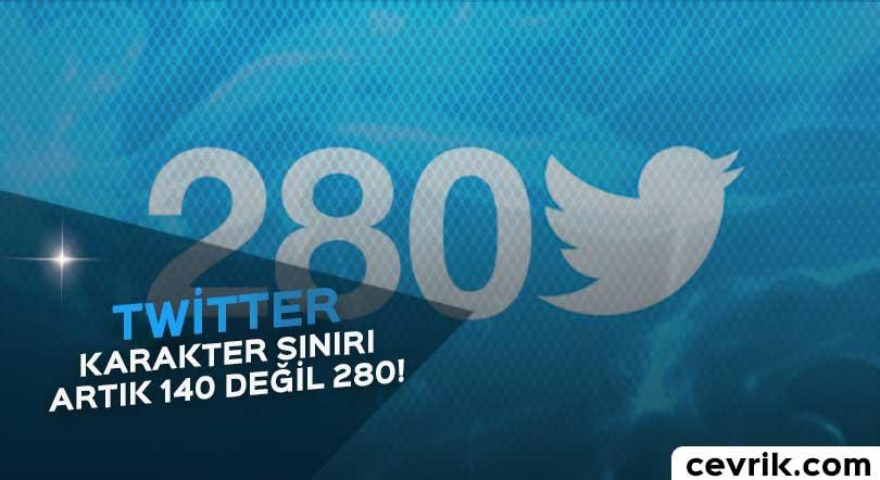 Twitter Karakter Sınırı 280