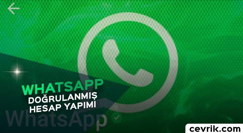 WhatsApp Doğrulanmış Hesap
