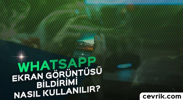 WhatsApp Ekran Görüntüsü Bildirimi 2017