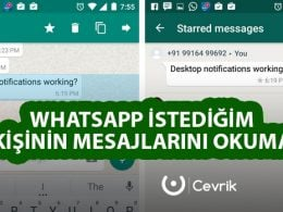 WhatsApp İstediğin Kişinin Mesajlarını Okuma
