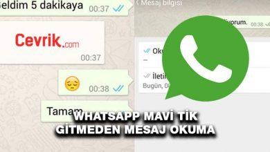 Photo of WhatsApp Mavi Tik Gitmeden Mesaj Okuma