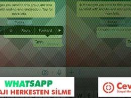 WhatsApp Mesajı Herkesten Silme