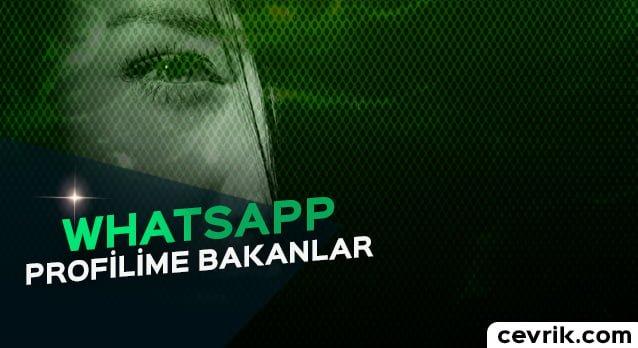 WhatsApp Profilime Bakanlar 2017