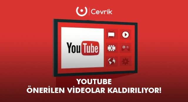 YouTube Önerilen Videolar